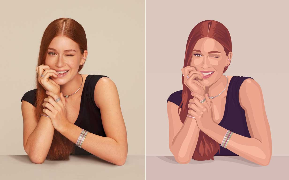 Make a vector portrait